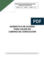 Norma de Acceso a Cabinas de Conducción (D.546)