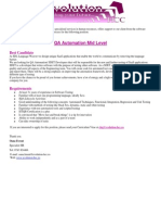 QA Automation Mid Level