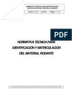 Norma Numeración de MR (D.546)