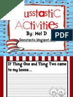 Free Seusstastic Primary Activites