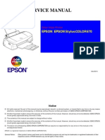 Epson Stylus Color 670 Service Manual