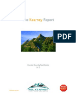 The Kearney Report - Boulder Real Estate Market Report 2011