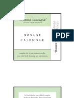 Internal Cleasing Kit Dosage Calendar