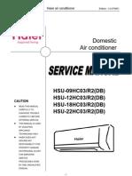 HAIER - HSU-09 12HC Service Man