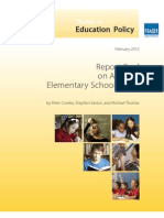 Fraser Institute's Report Card on Alberta's Elementary Schools 2012