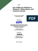 Management of Hg Contaminated Sediments