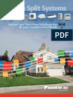 Split Systems Brochure - PCSSUSE08-08B - Daikin