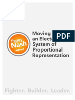 Moving to an Electoral System of Proportional Representation