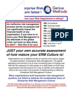 Risk Culture Maturity Monitor Brochure