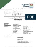 Auckland Future Vision Committee Agenda - 27.2.2012