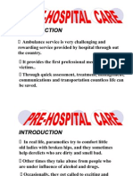 Pre Hospital Care Introduction Teaching