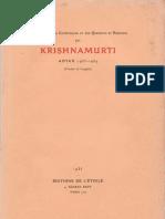 Krishnamurti à Adyar 1933-1934