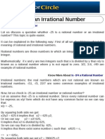 Is -25 an Irrational Number