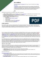 Comparison of Video Codecs