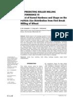 Efectul Formei Si Duritatii Graului Asupra Analizei Granulometrice de La Prima Srotare a Graului