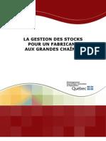Gestion Des Stocks Pour Un Fabricant Aux Grandes Chaines