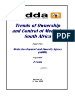 Trends of Ownership and Control of Media in South Africa