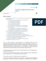 Sur le Conseil supérieur de la magistrature français