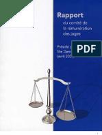 Rapport du comité de rémunération des juges au Québec