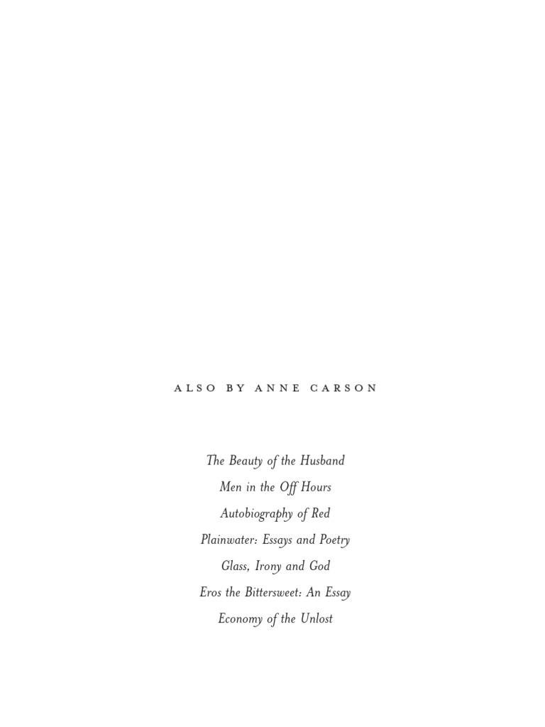 Anne Carson sappho pdf