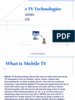 Mobile Tv Introduction