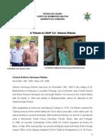 Tribute Col USAF Antonio Rebelo