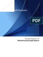 Manufacturing Reports