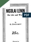 Zinoviev Nikolai Lenin His Life and Work 1918