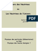 Univers Des Neutrinos 2006