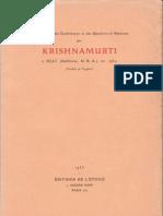 Krishnamurti à Ojaï (Californie, U. S. A.) en 1934
