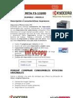 Toner original para Kyocera Mita FS-1320D