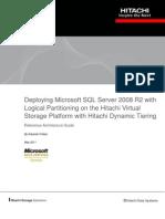 Deploying Microsoft SQL Server 2008 r2 With Microsoft Hyper v on Hitachi Vsp
