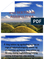 Ang Sektor Ng Agrikultura