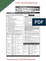 Notification Civil Preliminary Exam 2012
