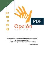 CALIFICACION PERICIAL - Informe Psicológico y Social