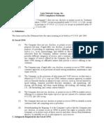 CPNI Compliance Statement - 2012