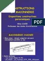 Constructions en Maconnerie_isba 2006-2007