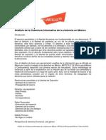Análisis de la Cobertura Informativa de la Violencia en México-Noviembre 2011