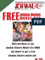 Gundam Uc Mouse Pad