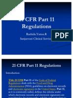 21 CFR Part 11 Regulations