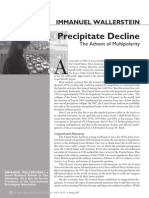 Immanuel Wallerstein Precipitate Decline