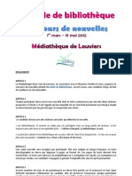Concours de nouvelles - Médiathèque de Louviers