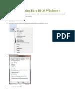 Cara Sharing Data Di OS Windows 7