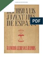 Discurso a las juventudes de España. Ramiro Ledesma