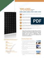 Topray TPS105S 280W305W Product Catalogue En