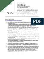 Ron Paul - ProLife Profiles