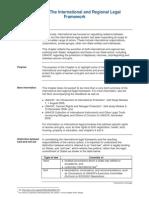 The International & Regional Legal Framework