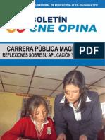 BOLETIN CNE - CARREA PUBLICA MAGISTERIAL