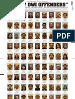 Guilty DWI Offenders - Nov. 2011-Jan. 2012