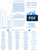 Named Endowment Brochure
